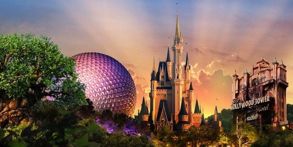 Disney-Parks-4-Parks-Icons-Evening-View-600x301